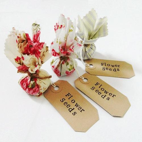 Marturii seminte flori in saculet de panza