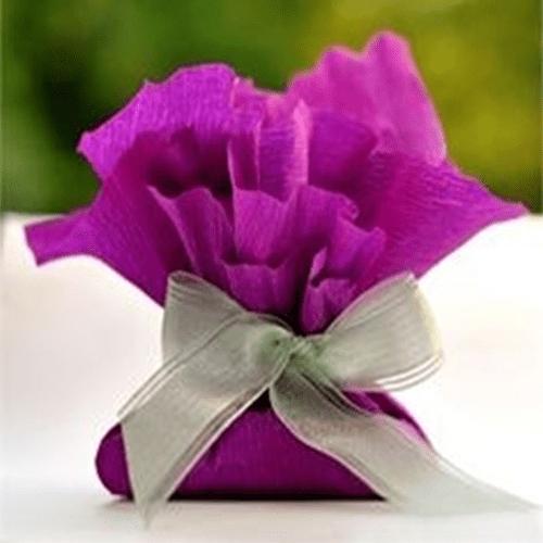 Marturii seminte flori in hartie gofrata